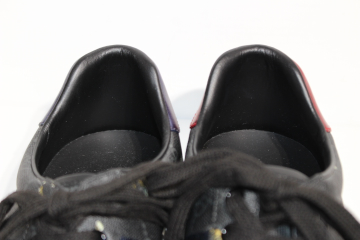 GUCCI グッチ スニーカー メンズ5ハーフ 約24.5cm ブラック タイガー GGスプリーム 動物 PVC 定価:¥90,200 【200】 image number 4