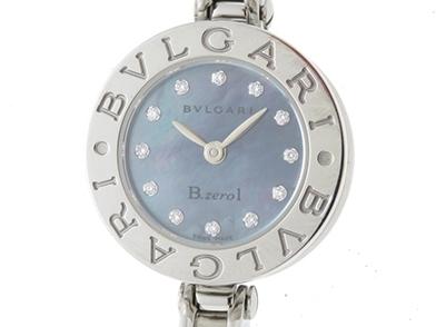 BVLGARI ブルガリ 時計 B-zero1 BZ22S Sサイズ ブルーシェル文字盤 SS ステンレススチール クオーツ【431】