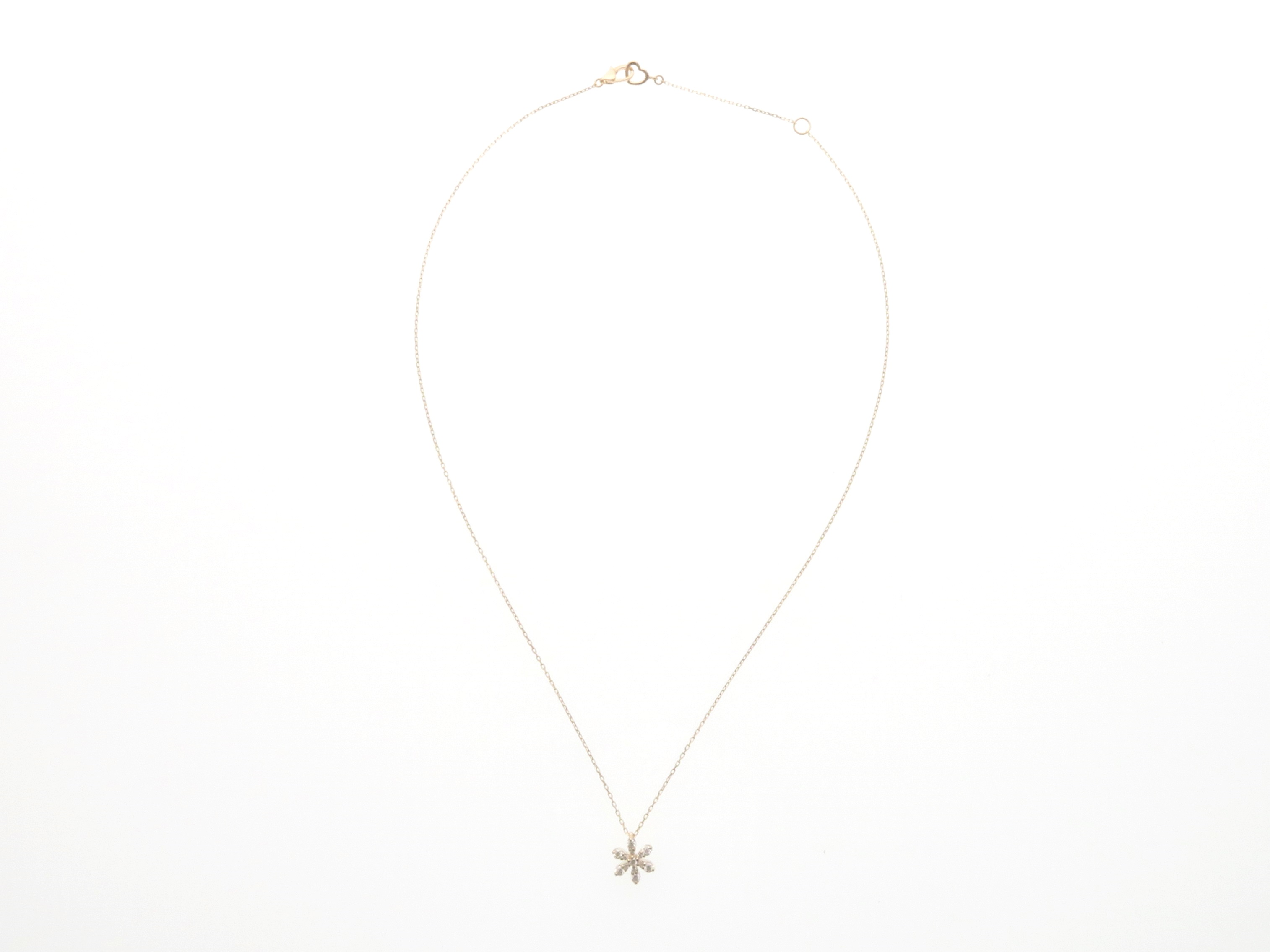 Ponte Vecchio ポンテヴェキオ  K18 ピンクゴールド ダイヤモンド ネックレス 【437】
