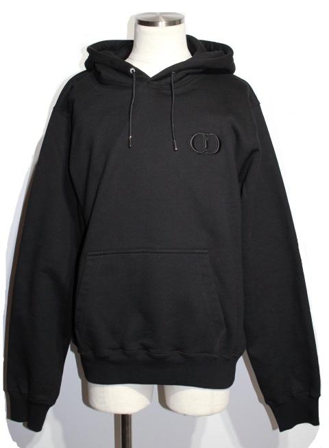 Dior ディオール パーカー CD ICON スウェットシャツ メンズXXL ブラック コットン 113J698A0531 参考定価¥126,500- (2148103364839)【200】