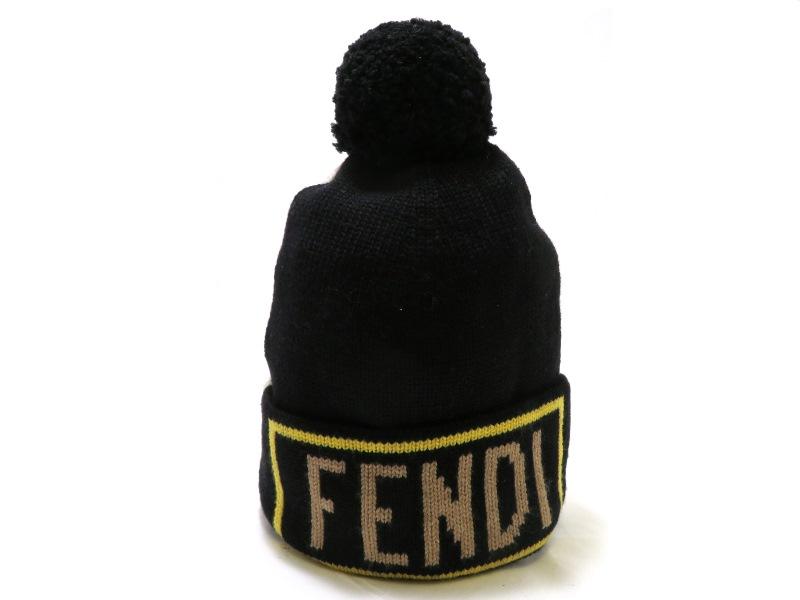 FENDI フェンディ キャップ ブラック/ホワイト ウール FXQ053 SJ【472】