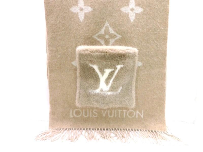 LOUIS VUITTON ルイヴィトン エシャルプ・コールド レイキャビック カシミヤ/ミンク ベージュ M74354【430】2143000514318