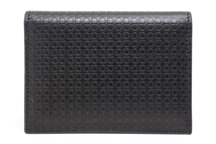 Salvatore Ferragamo フェラガモ 財布 小物 名刺入れ カードケース ブラック レザー 2143100322066 【200】