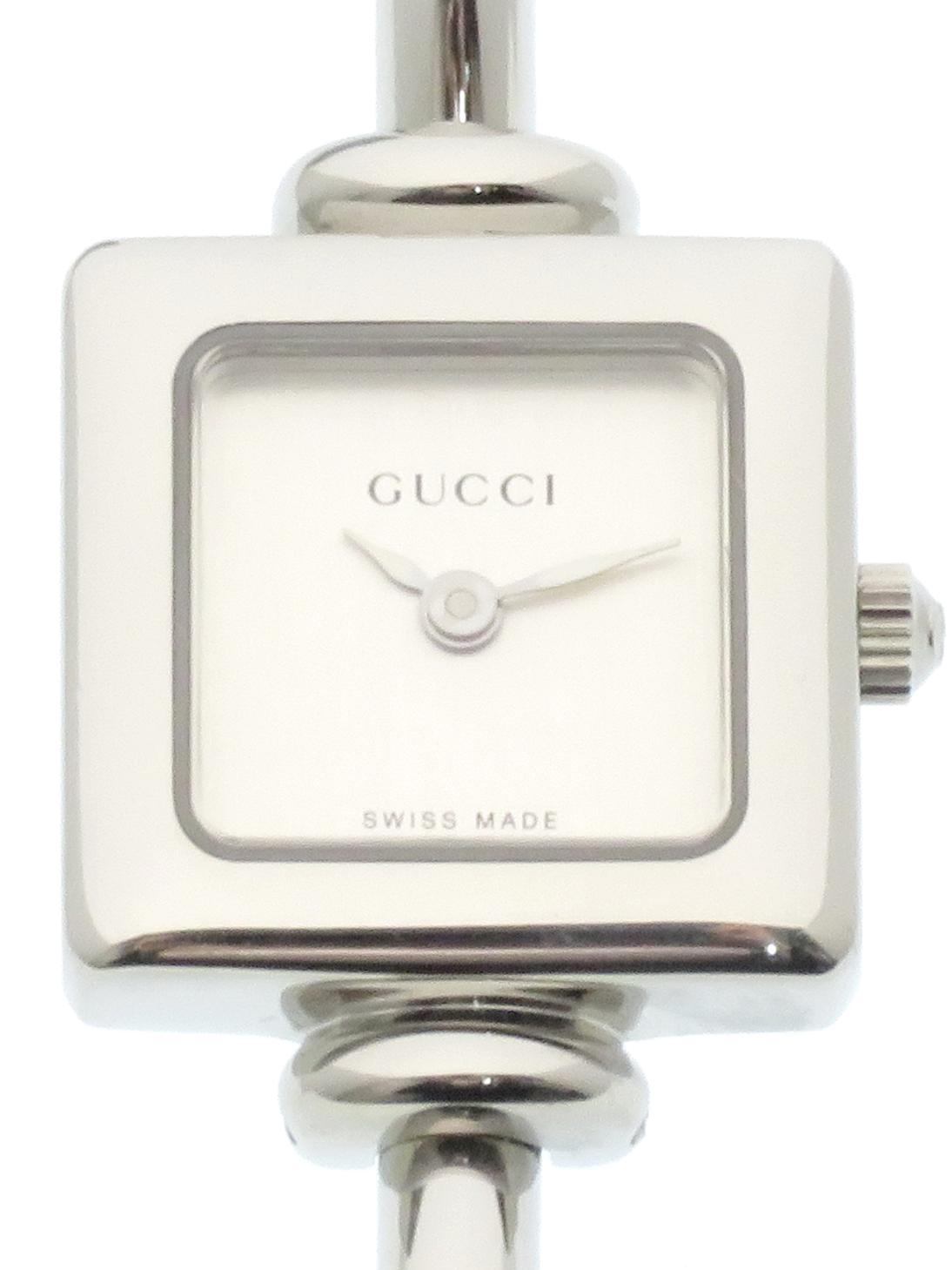 GUCCI グッチ 1900L ステンレススチール シルバー文字盤 クォーツ レディース腕時計 【437】