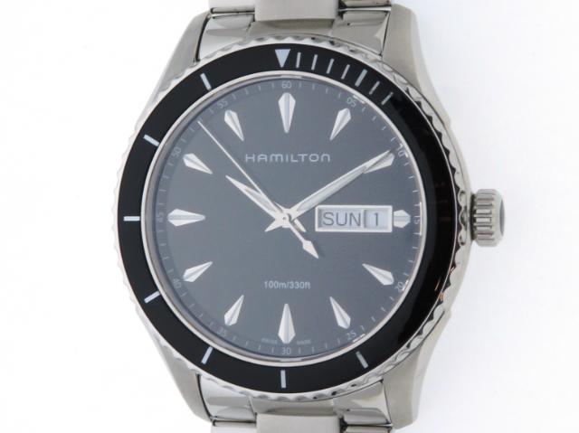 [2020年7月並行]HAMILTON ハミルトン 時計 ジャズマスター H375110 ブラック文字盤 メンズ ステンレス クオーツ【436】2148103371431