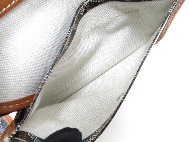 GOYARD ゴヤール サンルイトートPM トートバッグ ゴヤールディン・キャンバス ノワール(ブラック)×ブラウン 【474】 image number 9