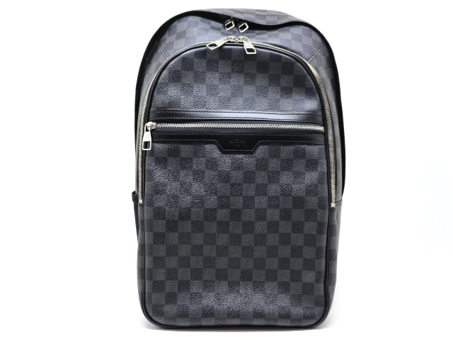 LOUIS VUITTON ルイヴィトン バッグ ミカエル リュックサック バックパック ダミエ・グラフィット N58024 2148103374678 【200】