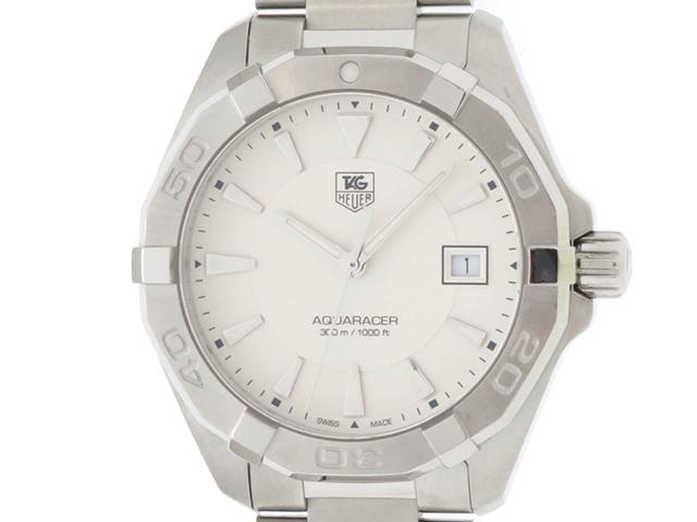 TAG HEUER タグホイヤー 時計 WAY1111 アクアレーサー メンズ クォーツ ホワイト文字盤 SS 【430】2147300282410