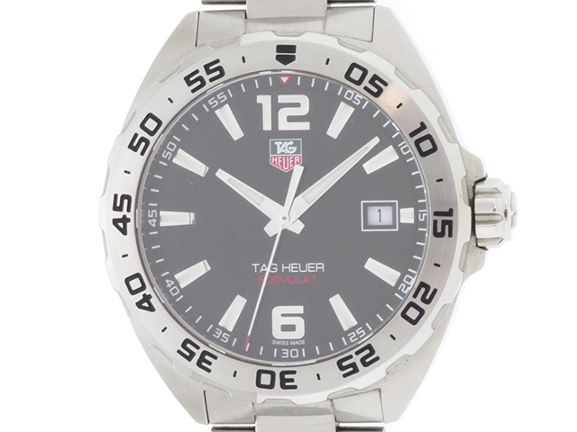 TAG HEUER タグホイヤー 時計 WAZ1112.BA0875 フォーミュラ1 メンズ 黒文字盤 クォーツ SS 【410】2148103308192
