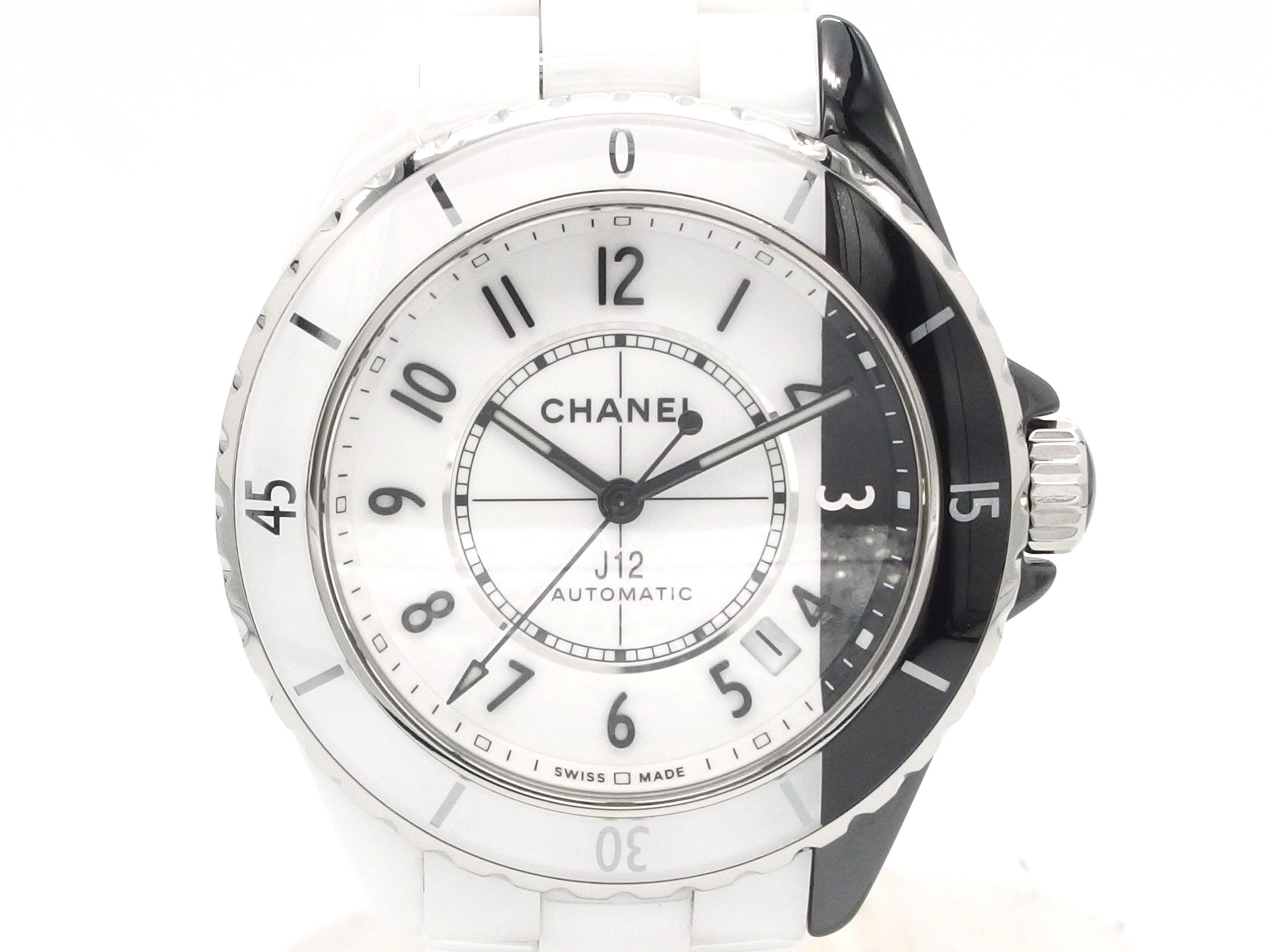 CHANEL シャネル 時計 J12パラドックス H6515 CE/SS ブラック&ホワイト 自動巻き【432】