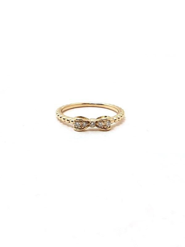 ポンテヴェキオ Ponte Vecchio デザインリング リボン 指輪 リング ダイヤモンド イエローゴールド YG K10 10金 女性 レディース【472】HF